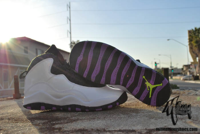 Air Jordan 10 X GS White Violet Pop Cyber Black 487211-120 (5)