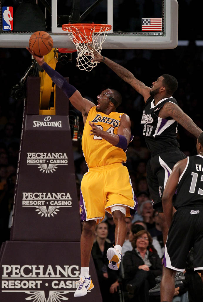 Kobe Bryant wearing Nike Kobe VII 7 Lakers Home (3)