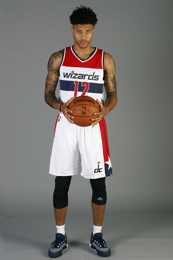 Kelly Oubre Jr. wearing the adidas Crazylight 2015 Boost