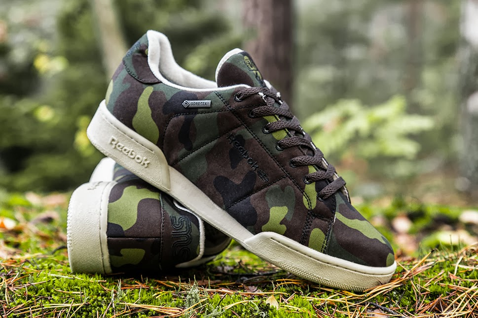 Sneakersnstuff x Reebok NPC II Gore-Tex Camo collaboration