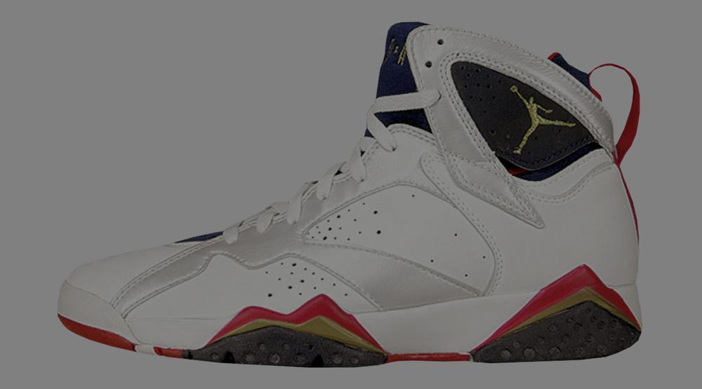 ... Air Jordan 7 Retro Gs Olympic White Metallic Gold-Midnight Navy True Red ...
