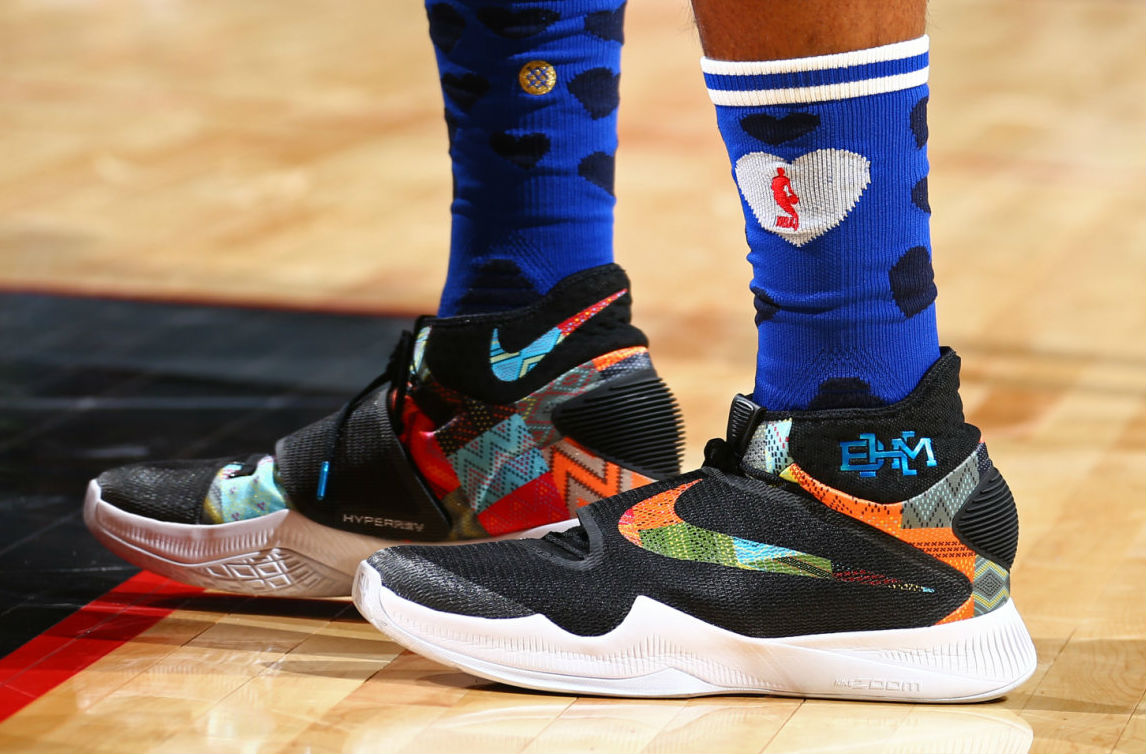 Al Horford Wearing the 'BHM' Nike HyperRev 2016 (2)