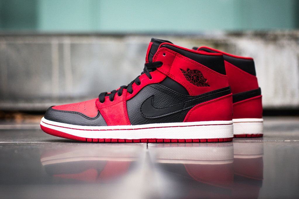 air jordan 1 retro mid black red