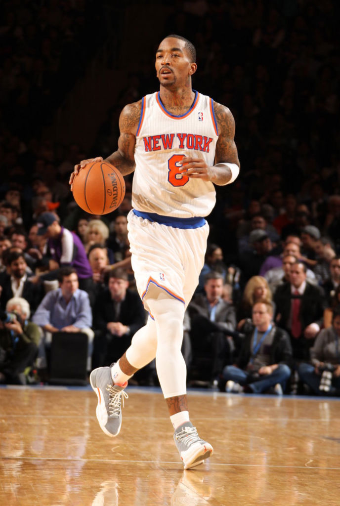 "Highlight // J.R. Smith's Reverse Alley Oop in the ""Cool Grey"" Air Jordan XII 12 (1)"