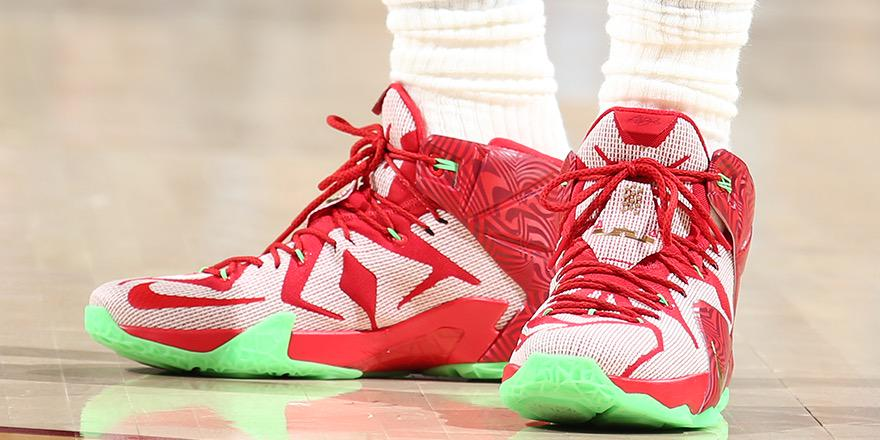 LeBron James wearing the 'LeBron's Mix' Nike LeBron XII 12