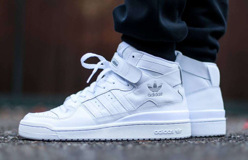 adidas ankle shoes white
