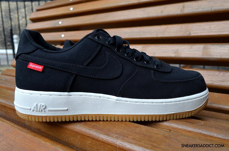 Supreme x Nike Air Force 1 Low 30th Anniversary Black