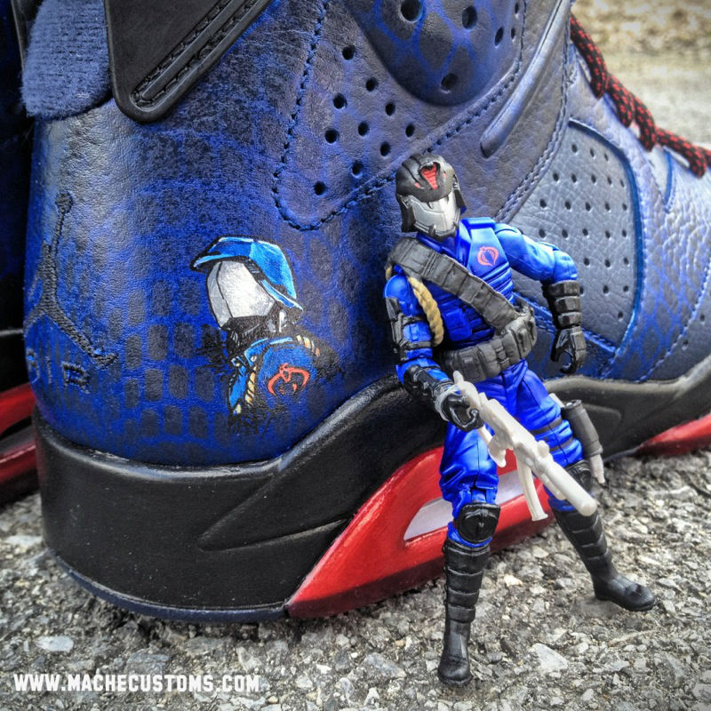 Air Jordan VI 6 Cobra Commander by Mache Custom Kicks (6)