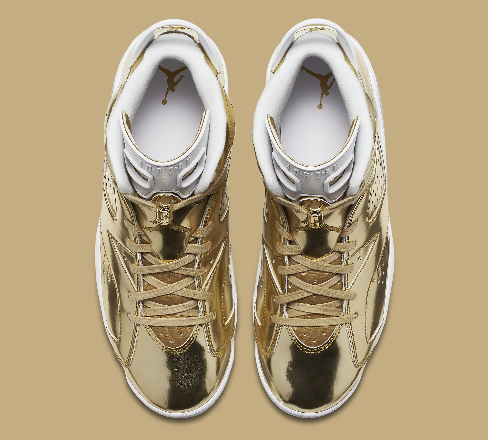 Gold Pinnacle Air Jordan 6 854271-730 Top