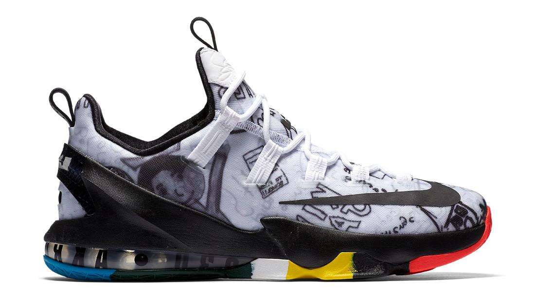 73ac5d255c9b4 Nike LeBron 13 Low LeBron James Foundation Graffiti Profile 849783-999