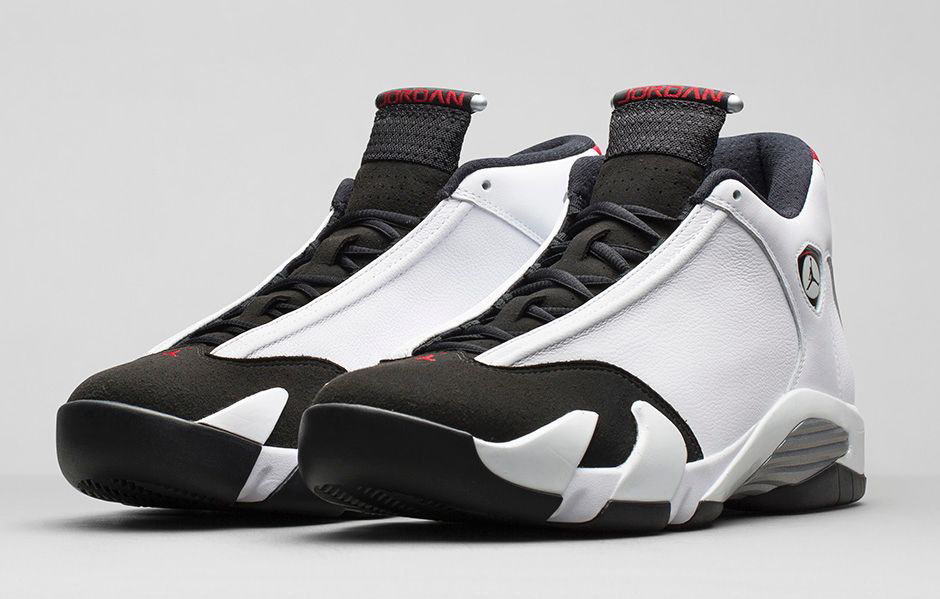 Air Jordan XIV 14 Retro Black Toe Official 487471-102 (1)