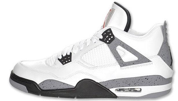 Air Jordan 4 Retro White/Cement Grey