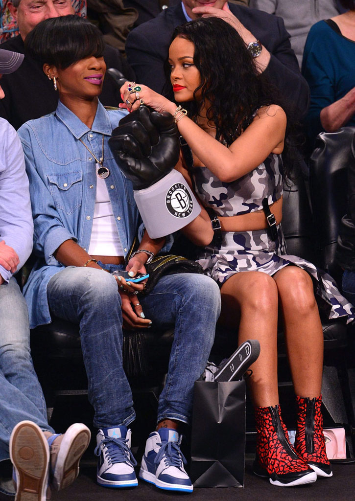 Rihanna Wearing Air Jordan XX8 Red Elephant (1)