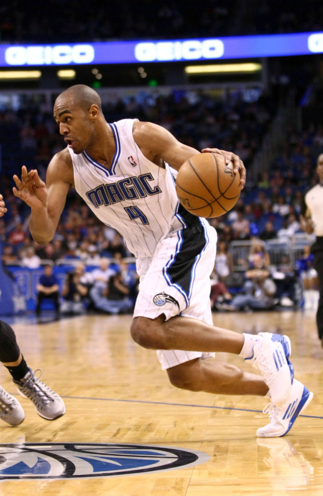Arron Afflalo wearing adidas adizero Crazy Light 2 Low