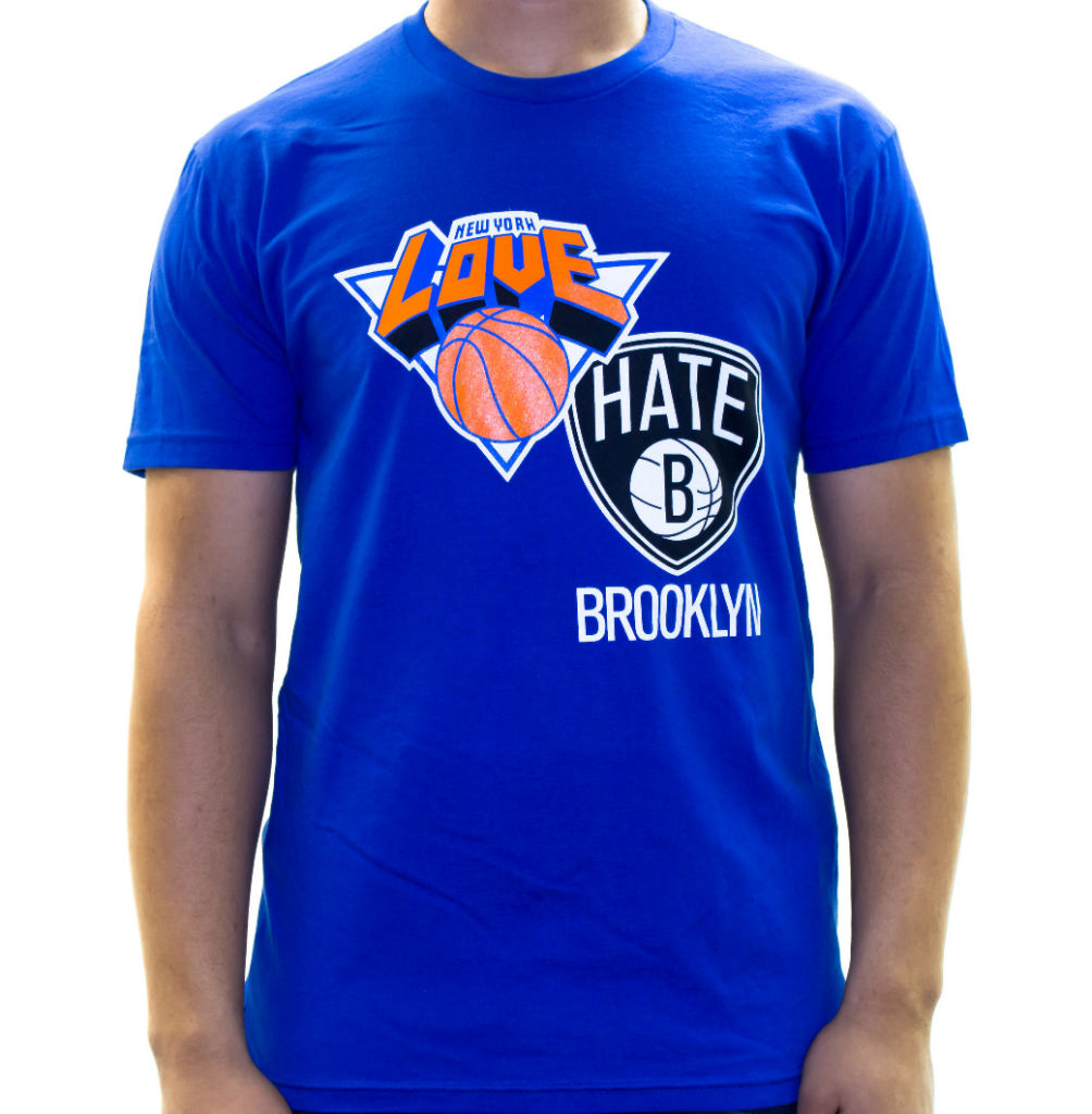 Where Brooklyn At Love/Hate Knicks Nets T-Shirt (3)