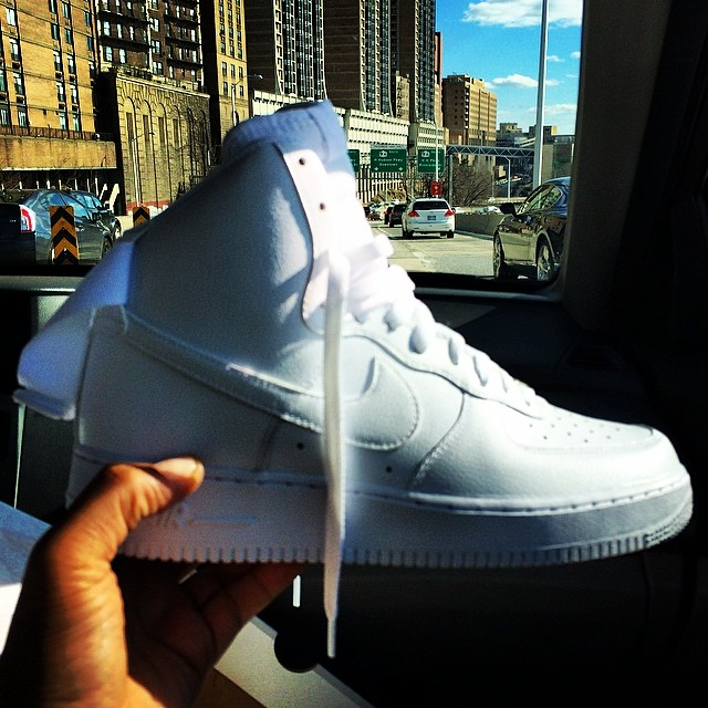 Vado wearing Nike Air Force 1 Hi White