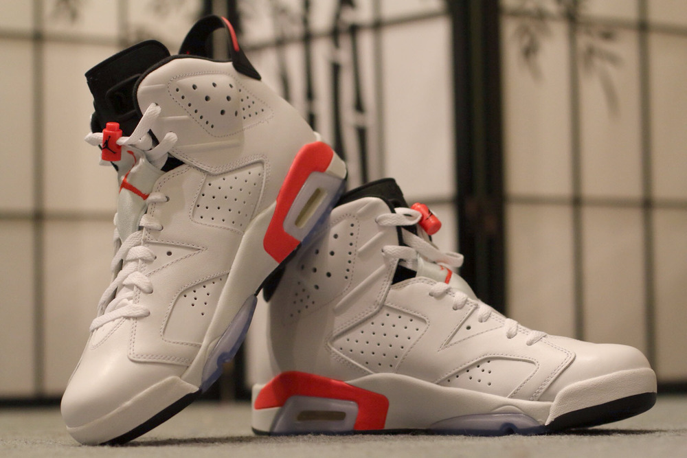 low priced 2e0a0 6ea0b Air Jordan 6 Retro - White Infrared    Detailed Look