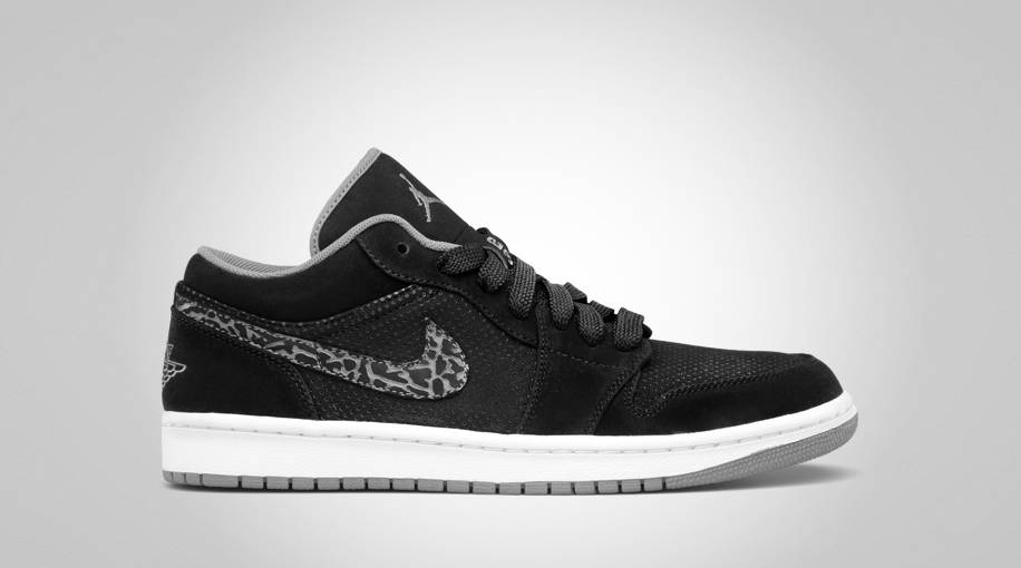 nike air jordan 1 phat low black elephant cement