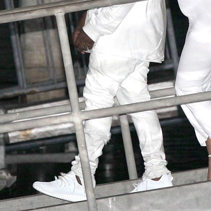 Kanye West Debuts All-White adidas Yeezy 350 Boost | Sole Collector