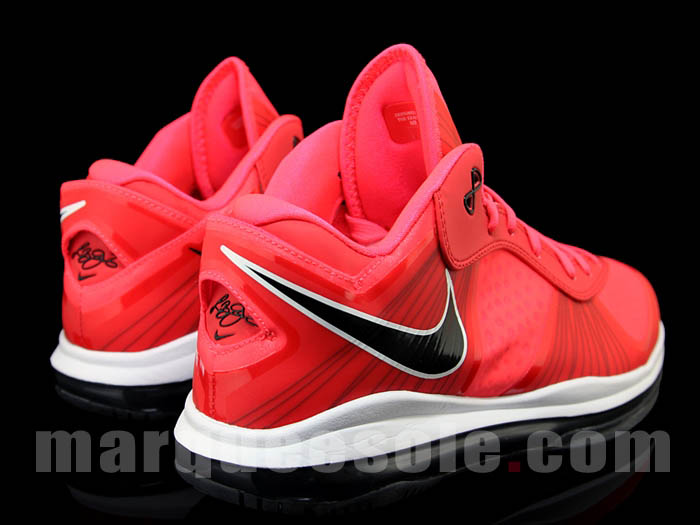 Nike Air Max LeBron 8 V/2 Low Solar Red White Black 456849-600