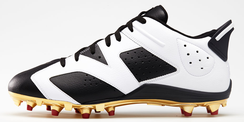 Air Jordan 6 Low Michael Crabtree PE Cleats (2)