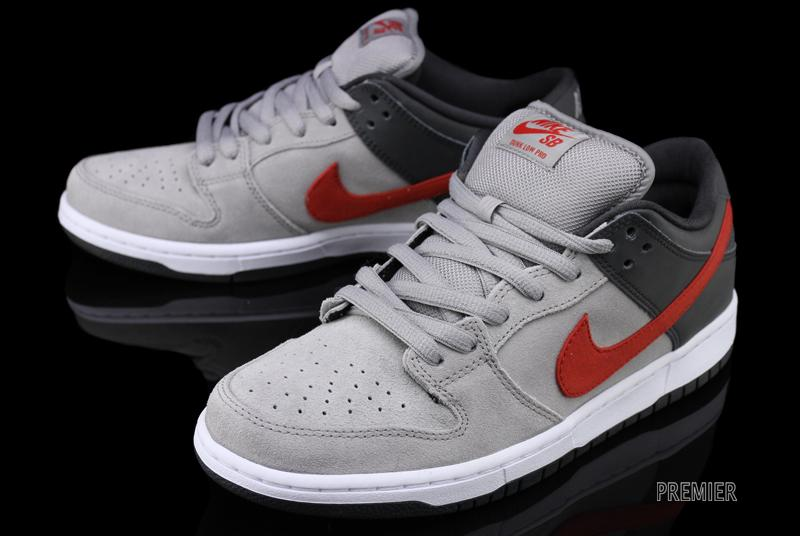 nike examen Hyperize - NIke SB Dunk Low Pro - Medium Grey / Anthracite - University Red ...