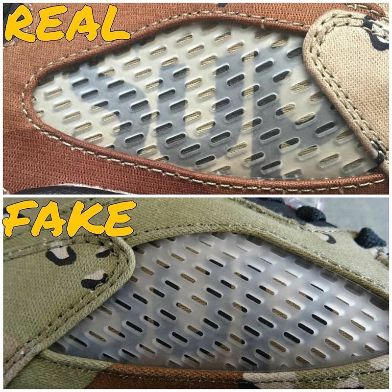 ce56744f4d789 How To Tell If Your 'Camo' Supreme Air Jordan 5s Are Real or Fake ...