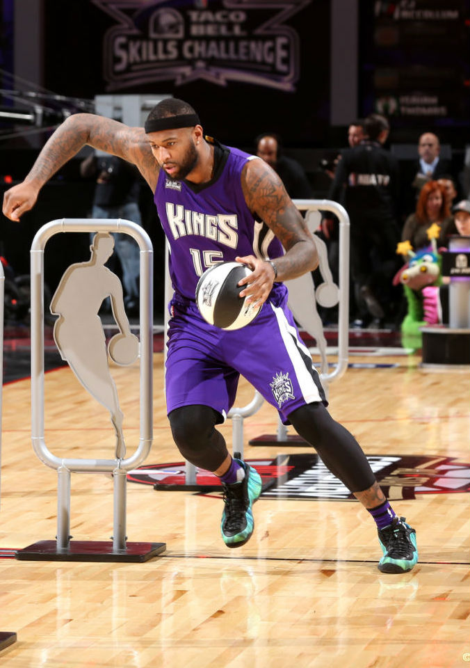 DeMarcus Cousins Wearing the 'Northern Lights' Nike Air Foamposite One