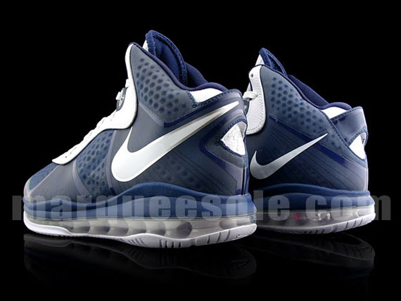 b1cfdcd59eb Nike Air Max LeBron 8 V 2 Navy Blue White .