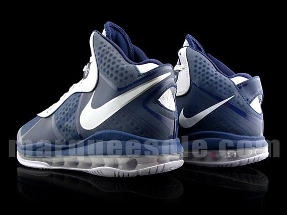 best loved fda12 ecf7a ... Nike Air Max LeBron 8 V2 Navy Blue White ...