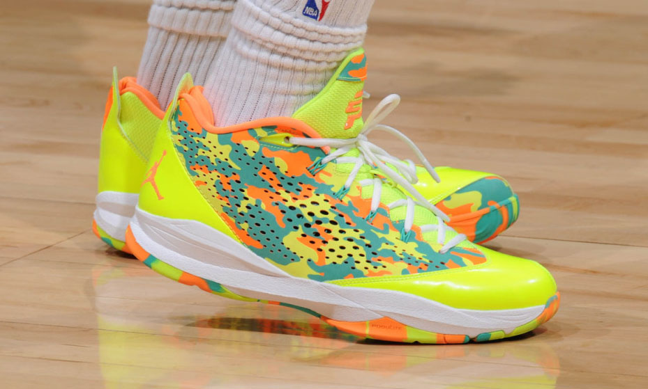 Chris Paul Wears 'Volt Camo' Jordan CP3.VII iD (1)