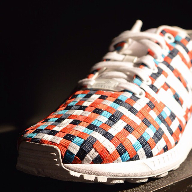 adidas zx flux weave (running white core black dark blue)
