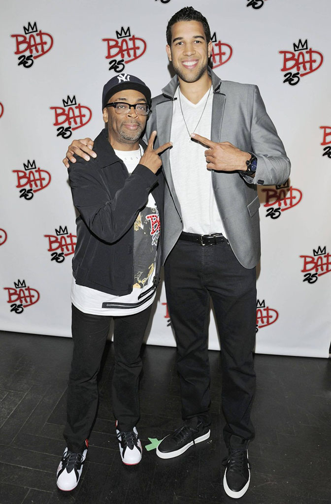 Spike Lee wearing Air Jordan VII 7 Bad 25 by Van Monroe (6)