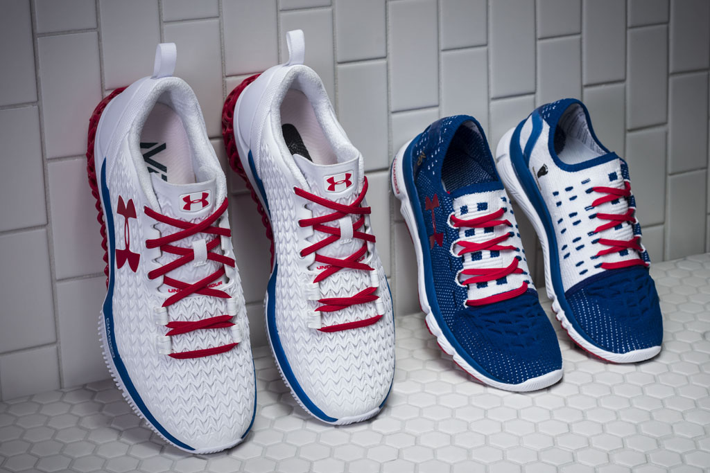 Under Armour Olympic Architech and SpeedForm Slingshot Customs for Michael Phelps.