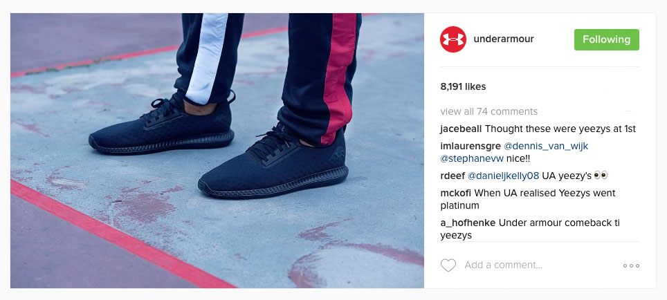 Under Armour Yeezys Comments