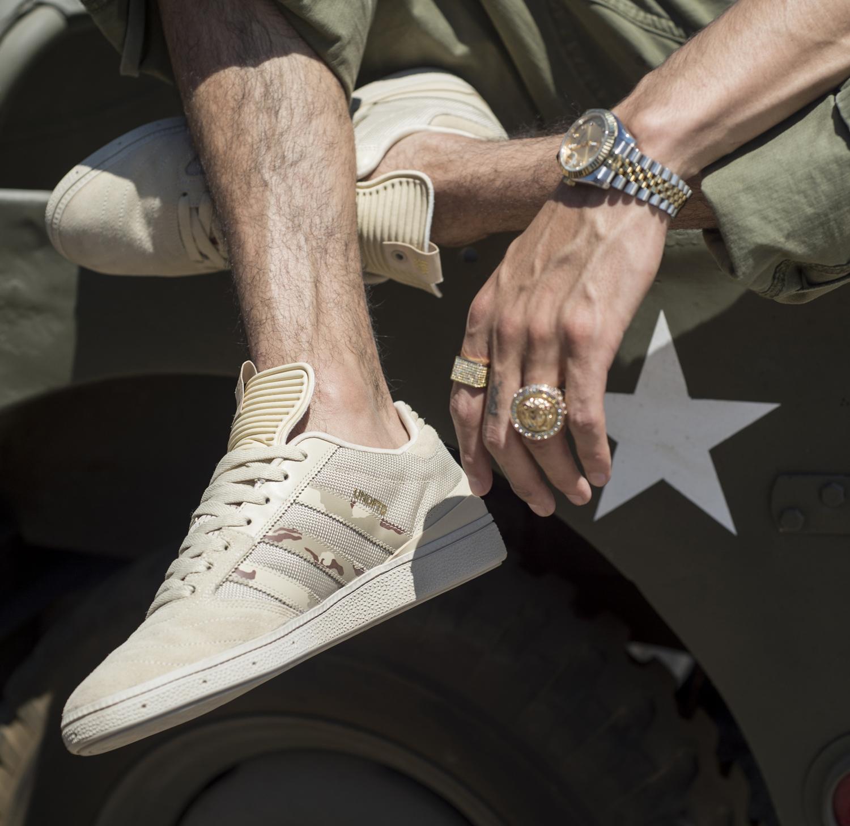 UNDFTD Adidas Busenitz Camo On Feet Medial