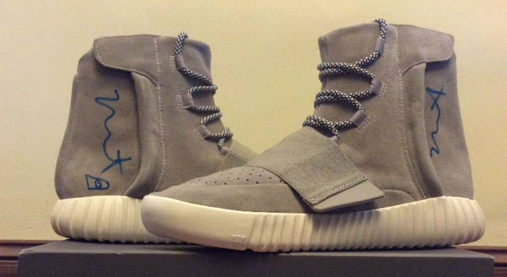 finest selection cdd8b 73b70 Kanye West Didn't Just Sign These $25K adidas Yeezys | Sole ...