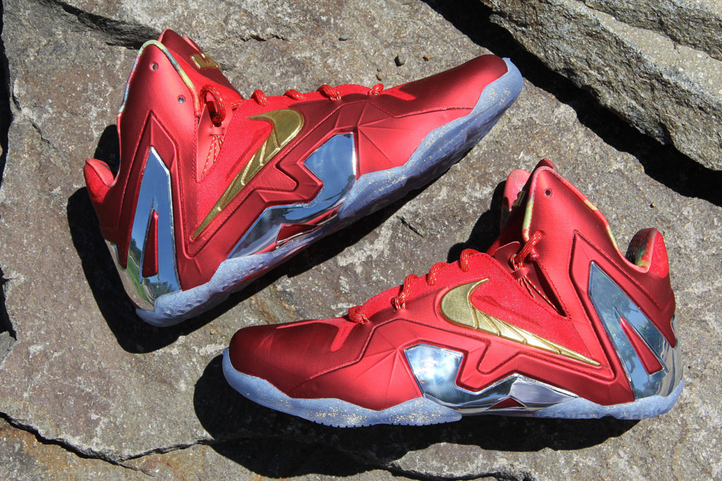 new styles c31e7 ee3f7 Nike LeBron XI 11 Elite Red Championship Pack (1)