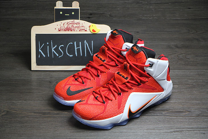 wholesale dealer 42dd3 91f49 Nike LeBron 12 Red White  Lion Heart