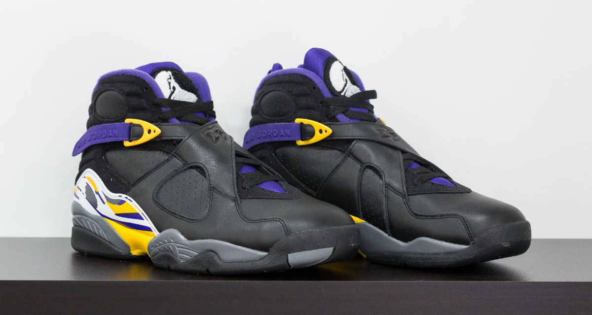 Air Jordan 8 Kobe Bryant Lakers PE Black (1)