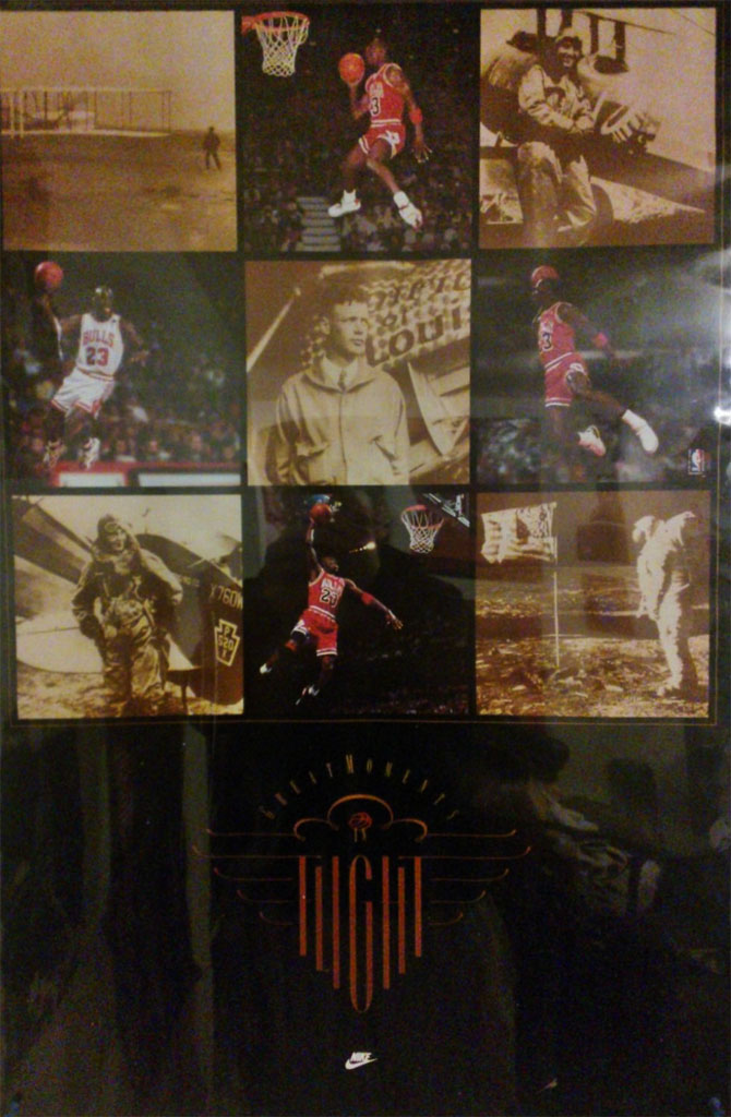 0ca443ce7672 Michael Jordan  Great Moments in Flight  Nike Air Jordan Poster (1993)