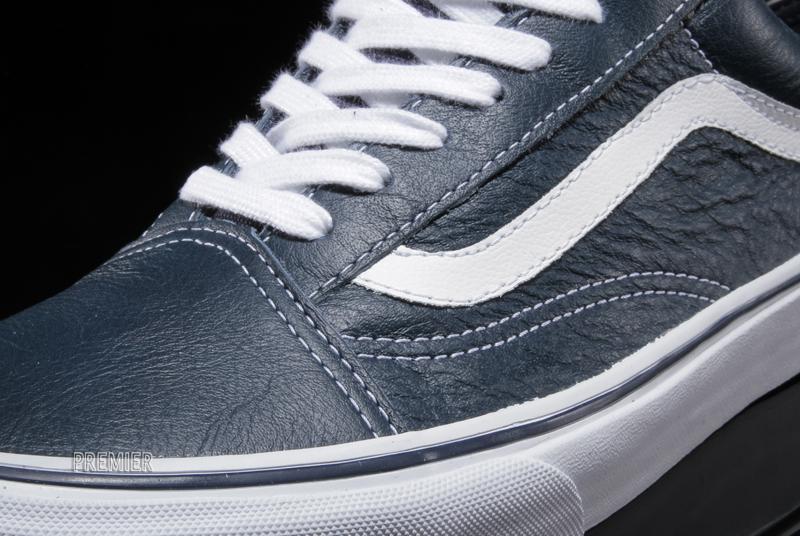 Vans Old Skool Leather - Dress Blue  7b278f2ea