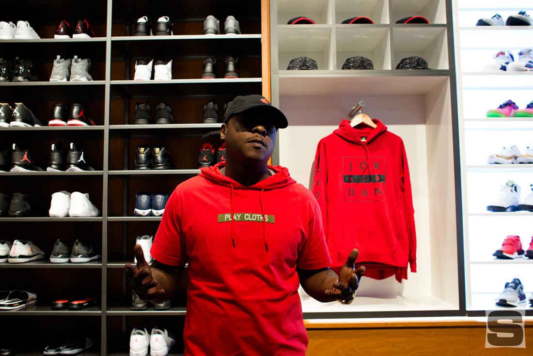 Jadakiss at DJ Khaled's Champs Sports Store