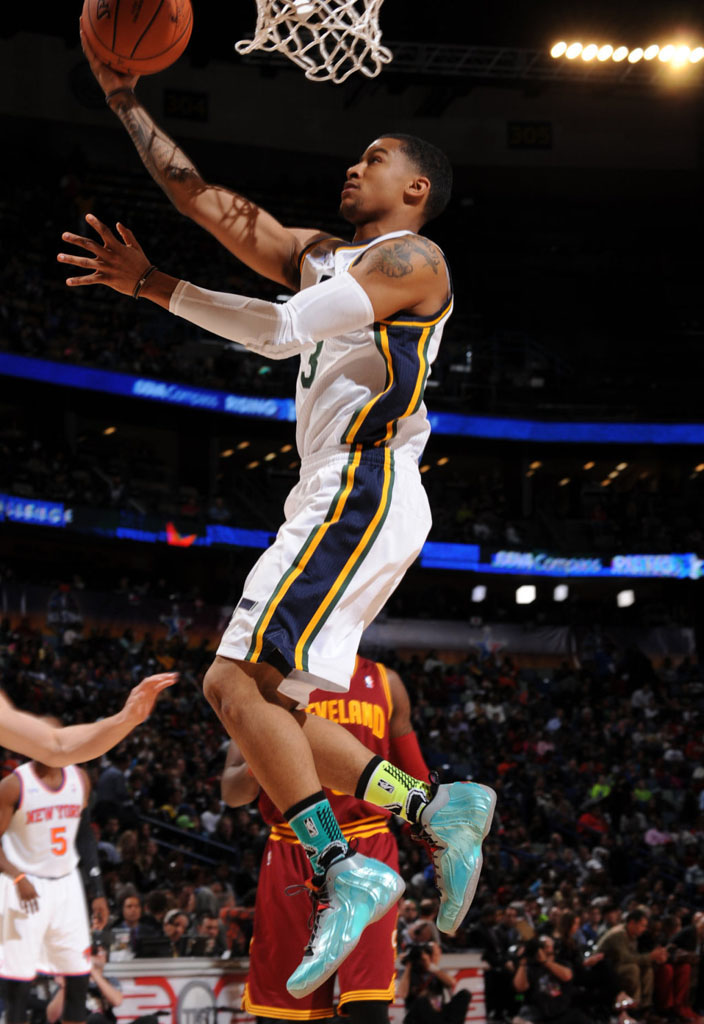 Trey Burke wearing Nike Air Flightposite Exposed Year of the Horse