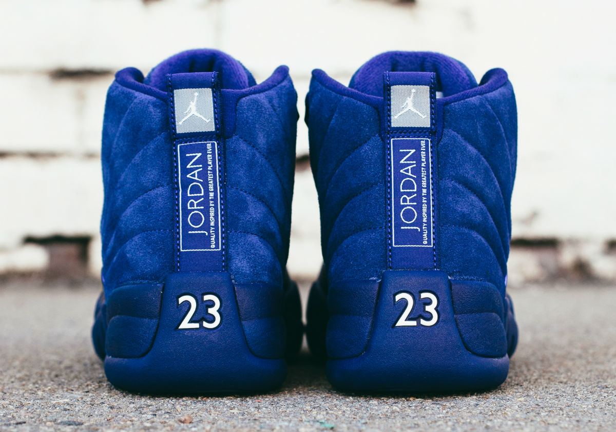Air Jordan 12 Blue Suede Heel 130690-400