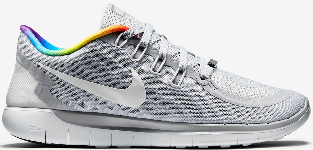 Nike Free 5.0 2015 Pure Platinum/White-Rainbow