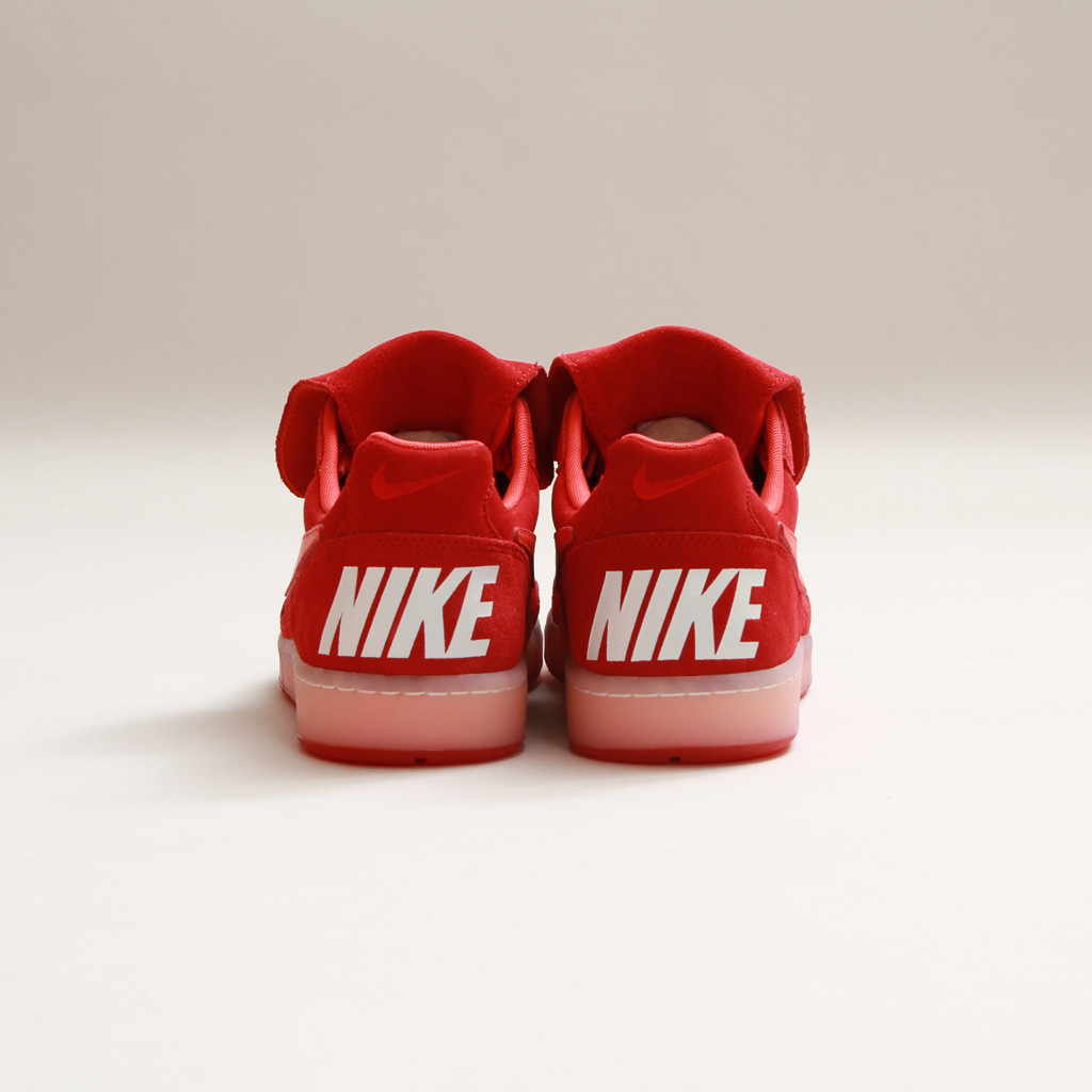 newest 7ae27 60028 ... Gym Red suede upper with accents in Light Crimson and white on top of a  translucent midsole. Pick up this spicy new Tiempo  94 now from select Nike  ...