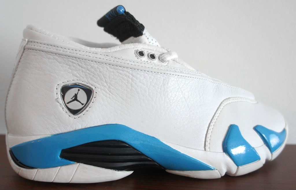 The outsole was also changed black to blue. Air Jordan XIV Low  Columbia   ... b6e75ca3f7