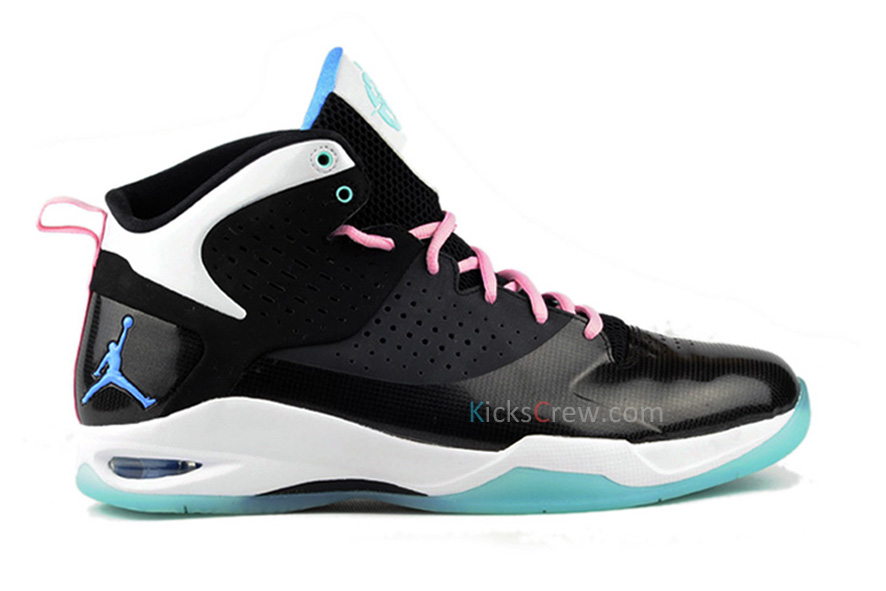 sneakers for cheap 83376 929eb Jordan Fly Wade Black Pink Flash Filiment Green South Beach 429486-030