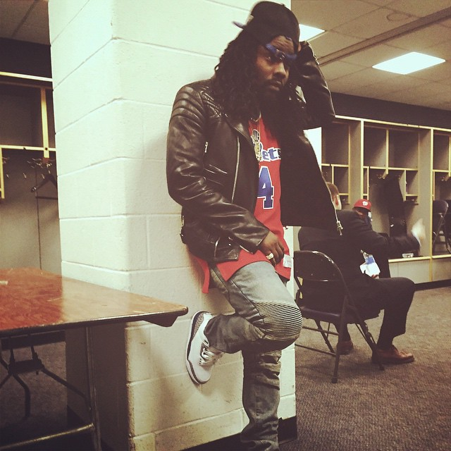 1ceccfd7b75733 Wale Gave His Air Jordans to a Fan at Last Night s Washington ...